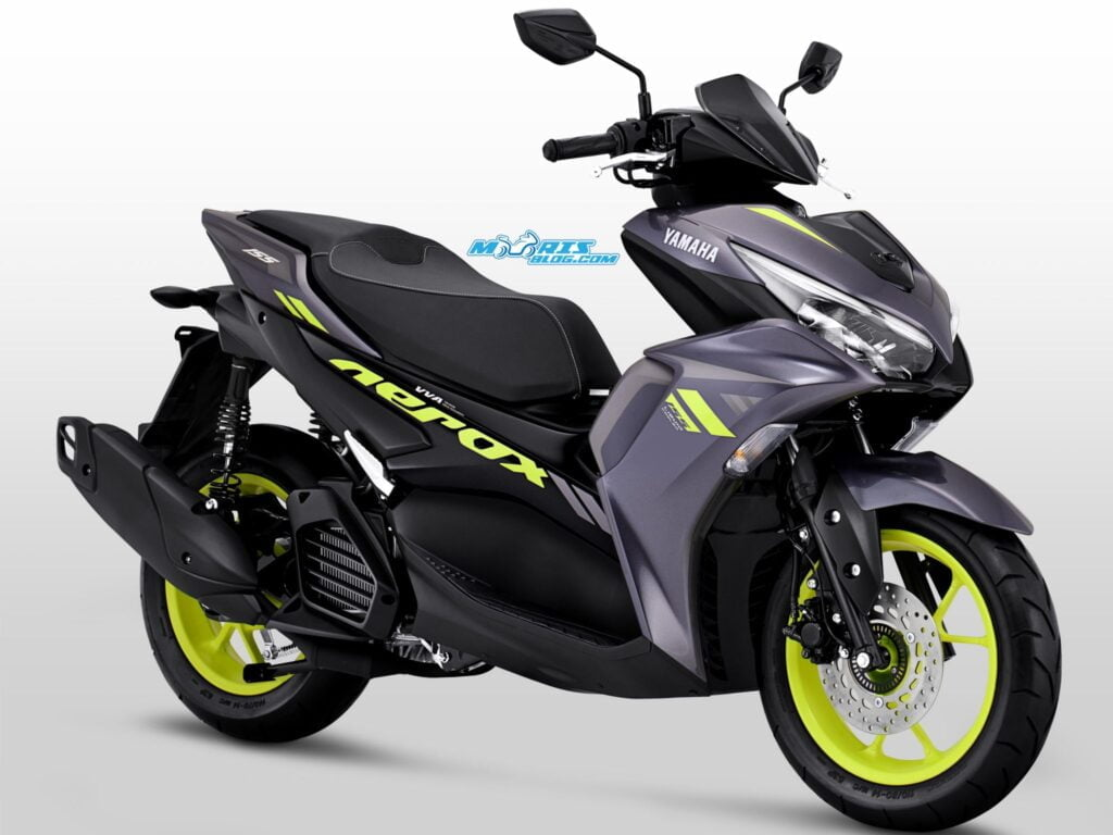 Dark Grey Yellow Yamaha Aerox 2020